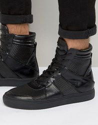 Religion Zipper Hi Top Trainers Black