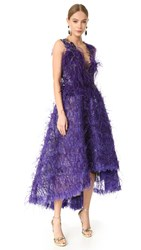 Marchesa Feather Gown Violet
