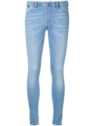 Love Moschino Embroidered Heart Skinny Jeans Blue