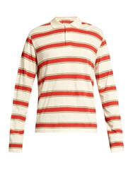 Stella Mccartney Striped Long Sleeved Polo Shirt Cream Multi