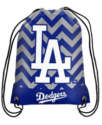 Forever Collectibles Los Angeles Dodgers Chevron Drawstring Backpack Blue