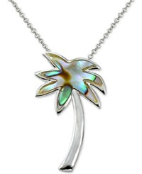 Giani Bernini Palm Tree Pendant Necklace In Sterling Silver Only At Macy's