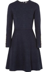 Lela Rose Jacquard Dress Navy