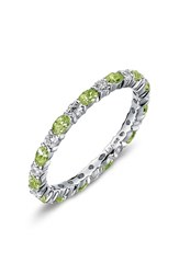 Lafonn Women's Simulated Diamond Birthstone Band Ring August Peridot