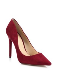 Alexandre Birman Olga Suede And Python Pumps Wine Grey