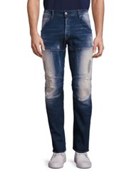 G Star Washed Slim Straight Jeans Moon Wash