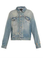 Mcq By Alexander Mcqueen Distressed Patchwork Denim Jacket