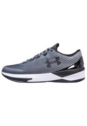 Under Armour Charged Controller Basketball Shoes Rhino Gray Black Grey