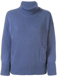 Lamberto Losani Roll Neck Jumper Blue