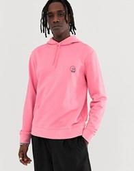 Cheap Monday Hoodie With Tiny Logo In Pink