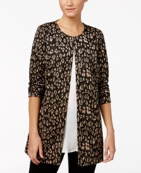 Jm Collection Petite Metallic Print Jacket Only At Macy's Cheetah Shimmer