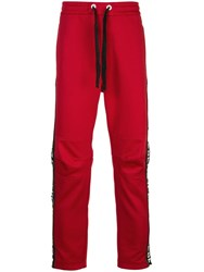 Iceberg Logo Panel Track Pants Red