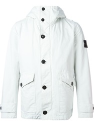 Stone Island Button Down Padded Jacket White