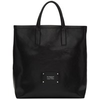 Givenchy Black Leather Tag Tote