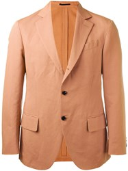 Massimo Piombo Mp Unconstructed Contrast Button Blazer Pink Purple
