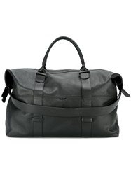 Zanellato Logo Plaque Textured Holdall Black