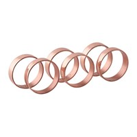 Broste Copenhagen 'Ring' Napkin Ring Set Of 6 Copper