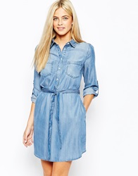 Oasis Belted Denim Shirt Dress