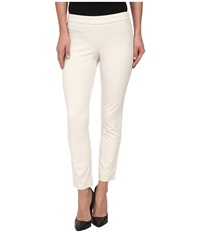 Dkny Bi Stretch Skinny Ankle Side Zip Pants Chalk Women's Casual Pants White