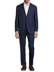 Corneliani Classic Fit Pinstripe Wool Suit Navy