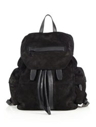 Alexander Wang Marti Suede Backpack Black