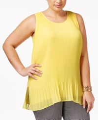 Alfani Plus Size Sleeveless Pleated Top Only At Macy's Popcorn