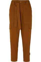 Alex Mill Expedition Belted Stretch Cotton Twill Slim Leg Pants Camel