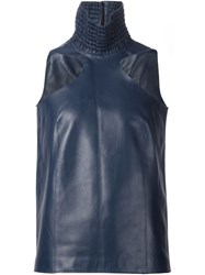 Y Project Leather Tank Top Blue