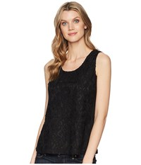 Roper 1596 All Over Lace Tank Black Clothing