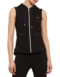 Lauren Ralph Lauren Hooded French Terry Vest Black