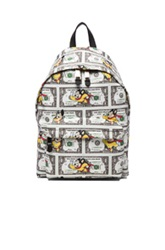 Moschino Mighty Mouse Backpack In Animal Print Green