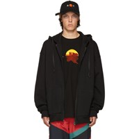 D By D Black Raw Cut Hoodie