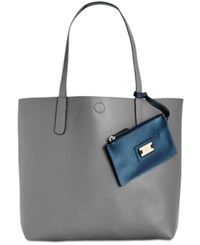 Styleandco. Style Co. Clean Cut Reversible Tote With Wristlet Only At Macy's Grey Pearl Blue