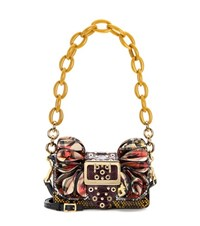 Burberry The Buckle Shield Leather And Snakeskin Shoulder Bag Multicoloured
