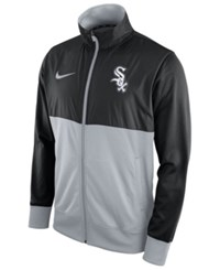 Nike Men's Chicago White Sox Track Jacket Black Gray