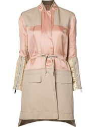 N 21 No21 Panelled Trench Coat Pink Purple