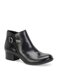 Born Phobos Full Grain Leather Ankle Boots Black