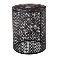 Pols Potten Semi Precious Stone Side Table Black