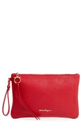Salvatore Ferragamo Amery Leather Wristlet Clutch