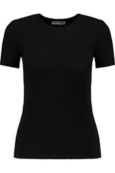Opening Ceremony Ribbed Stretch Knit Top Black