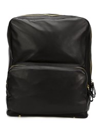 Pierre Hardy Leather Backpack Black