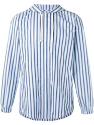 Comme Des Garcons Shirt Striped Lightweight Jacket Men Cotton S Blue