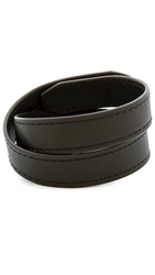 Ben Minkoff Waxy Leather Bracelet Black