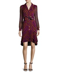 Diane Von Furstenberg Catherine Two Giraffe Daze Dot Shirtdress