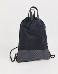 Emporio Armani Logo Gym Backpack In Dark Navy