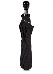 Alexander Mcqueen Black Skull Handle Umbrella