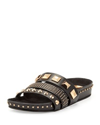 Ivy Kirzhner Tank Studded Leather Sandal Black