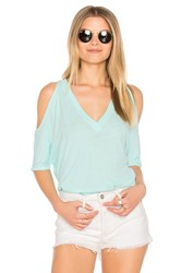 Chaser Cold Shoulder Oversized Dolman Tee Turquoise
