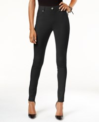 Inc International Concepts Textured Faux Suede Leggings Only At Macy's Deep Black