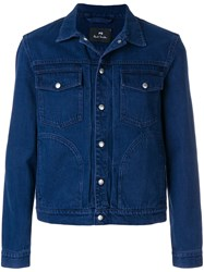 Paul Smith Ps By Casual Denim Jacket Blue